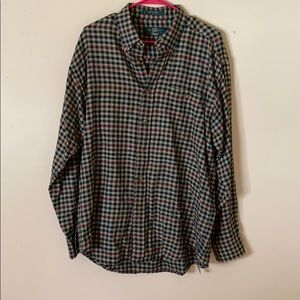 Orvis cotton flannel fits more like a large